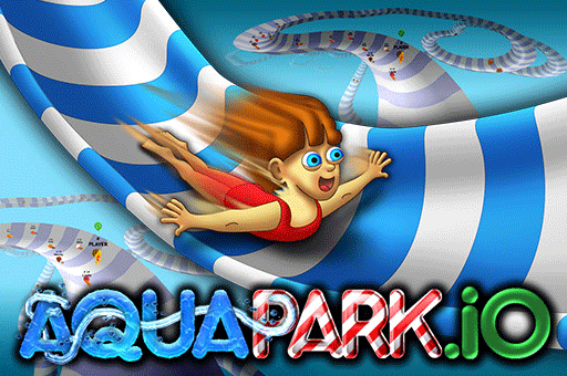 Aquapark is a slippery waterslide racing game at games pbb.com