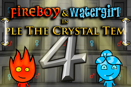 Fireboy and Watergirl will be teleporting across the Crystal Temple at games pbb.com