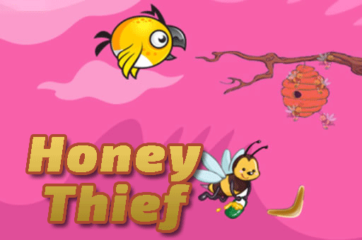 Steal the honey with a boomerang. It's a great puzzle game at games pbb.com