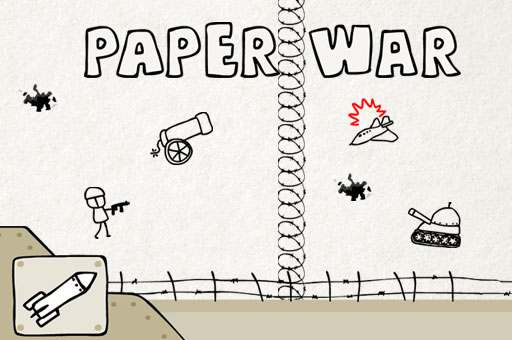 Strategy and some luck will allow you to prevail on paper war at games pbb.com